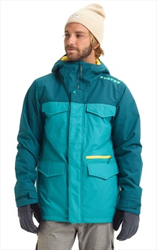 Burton Covert Slim Ski/Snowboard Jacket, XL Green Blue Slate/Deep Teal