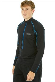 OMM Meridian Zip Long Sleeve Men's Pullover, S Black
