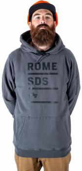 Rome Riding Hoodie Ski/Snowboard Technical Pullover, M Grey Stacked