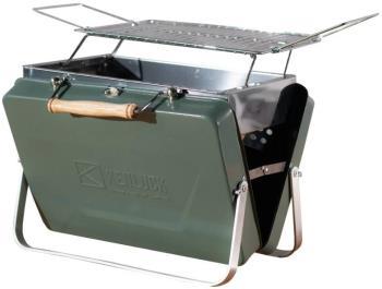 Kenluck Mini Grill Portable Camping BBQ, Hammertone Gloss Green