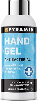 Pyramid Hand Sanitiser Gel Antibacterial Travel Protection, 100ml