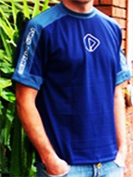 NeilPryde Kids Short Sleeve Hydrotex Rash Shirt, 8 Blue Grey