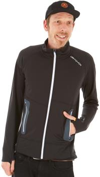 Ortovox Adult Unisex Fleece Light Full Zip Jacket, L Black Raven