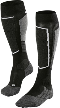 Falke SK2 Merino Wool Women's Ski Socks, UK 4-5 Black-Mix