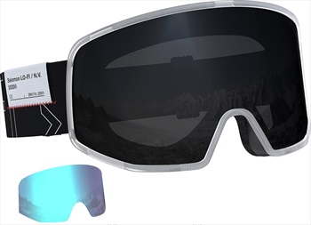 Salomon Lo Fi Black Snowboard/Ski Goggles, M/L LTD White Black
