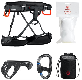 Mammut Ophir 4 Slide Rock Climbing Harness Package, Xs-M Neutral
