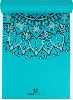 Yoga Studio Mandala Yoga/Pilates Non-Slip PVC Mat, 6mm Turquoise