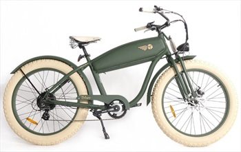 """Voltaway The Angus E-Bike Retro Fat Tire Electric Bicycle 26"""" Defenser"""