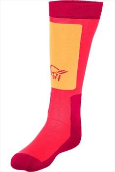 Norrona Adult Unisex Lofoten Midweight Merino Ski/Snowboard Socks, Eu 34-36 Ruby