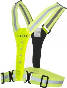 Gato Sports LED Safer Sports Kid's Hi-Visibility Vest, Neon Yellow