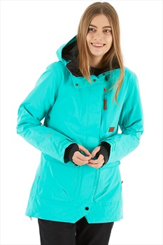Planks All-Time Insulated Women's Snowboard/Ski Jacket, M Teal