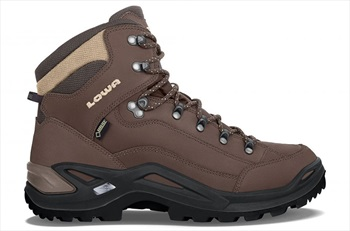 Lowa Renegade GTX Mid Men's Leather Hiking Boots, UK 8 Espresso