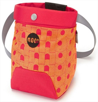 Moon Trad Rock Climbing Chalk Bag, One Size Retro Moon/True Red