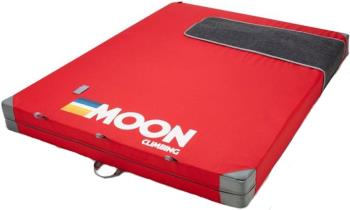 Moon Saturn Bouldering Crash Pad, Retro Stripe True Red