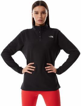 The North Face TKA Glacier Snap-Neck Women's Pullover UK 10 Black