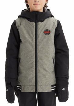 Burton Gameday Boy's Snowboard/Ski Jacket, XL Grey/Black