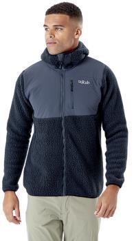 Rab Outpost Hooded Hiking Fleece Jacket, S Beluga