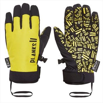 Planks High Times Ski/Snowboard Pipe Gloves, XL Mellow Yellow