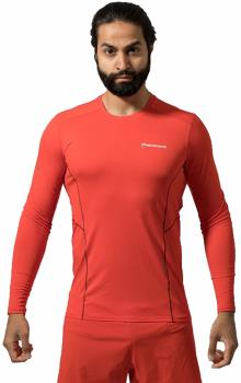 Montane Sabre Technical Long Sleeve Base Layer Top, M Flag Red