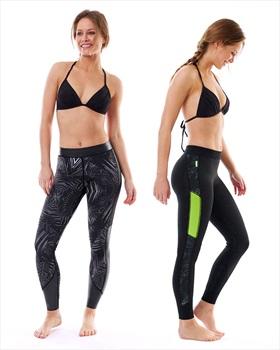 Jobe Verona 1.5 Mm Neoprene Wetsuit Leggings, Small Black Lime 2020