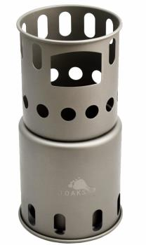 Toaks Titanium Backpacking Stove Ultralight Woodburning Stove, Small