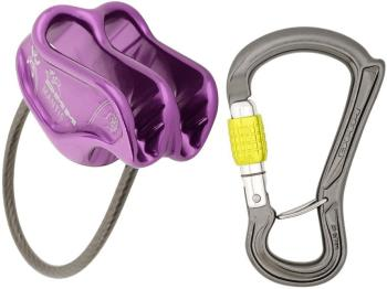 DMM Mantis & Ceros Screwgate Rock Climbing Belay Device Set - Purple