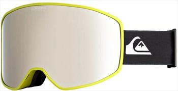Quiksilver Storm Mirror Silver Ski/Snowboard Goggles, M/L Limeade