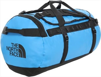 The North Face Base Camp Large Duffel Travel Bag, 95l Clear Lake Blue/Tnf Black