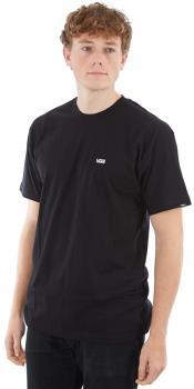 Vans Left Chest Logo Men's Short Sleeve T-Shirt, M Black/White