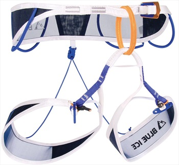 Blue Ice Adult Unisex Choucas Pro Alpine Climbing Harness, S White/Blue