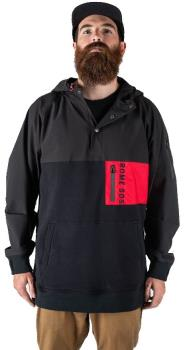 Rome Riding Snap Hoodie Ski/Snowboard Technical Pullover, M Black