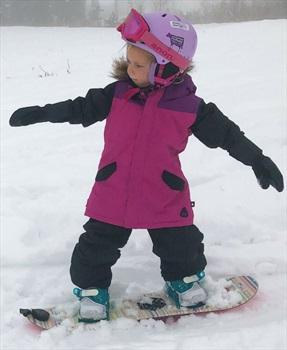 Burton Aubrey Girls Snowboard/Ski Parka, 2T Fuschia Red Multi