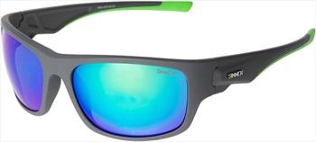 Sinner Bruno Sports Green Oil Wrap Around Sunglasses, Dark Grey
