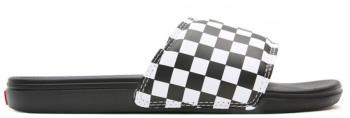 Vans La Costa Slide-On Sandals, UK 11 Checkerboard True White/Black
