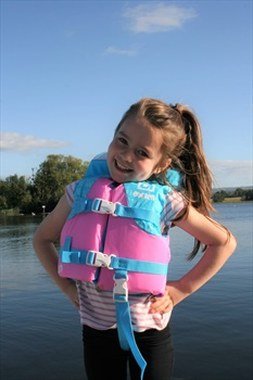 O'Brien Kids Nylon Buoyancy Aid Life Jacket, Infant Blue Pink