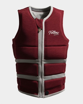 Follow Surf Edition Ladies Wakeboard Impact Vest, Red Wine 2021