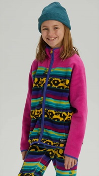 Burton Kid's Spark Full-Zip Fleece, M Leocat/Fuchsi