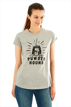 Planks Women's Powder Hound Tee T Shirt, L Sports Grey