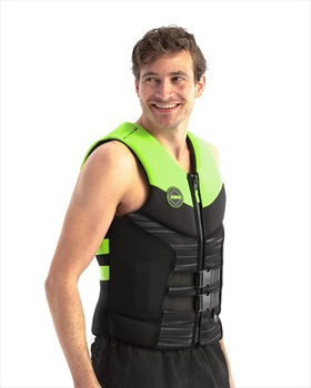 Jobe Segmented Jet Backsupport Buoyancy Vest, Large Black Lime 2021