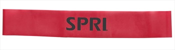 SPRI Mini Band Medium Resistance Band, Red
