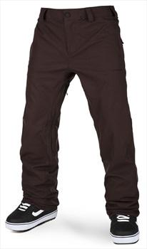 Volcom Adult Unisex Freakin Snow Chino Snowboard/Ski Pants, L Black Red