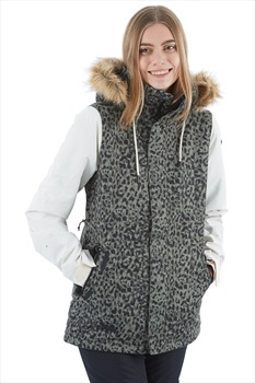 Volcom Fawn Insulated Women's Ski/Snowboard Jacket S Leopard