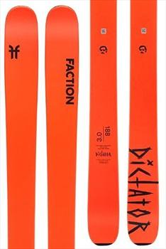 Faction Dictator 3.0 Ski Only Skis, 180cm Orange 2020