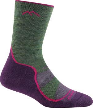 Darn Tough Womens Light Hiker Micro Crew Women's Hiking Socks, M Moss