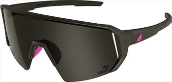 Melon Adult Unisex Alleycat Smoke Performace Sunglasses, M/L Black/Neon Pink
