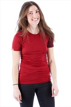 Ortovox Womens Rock'N'Wool Women's Short Sleeve T-Shirt, M Dark Blood