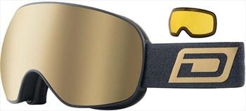Dirty Dog Mutant 2.0 Gold Ski/Snowboard Goggles, L Matte Black-Brown