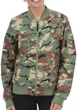 Wearcolour Prime Bomber Women's Waterproof Jacket, S Leaf