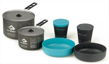 Sea to Summit Alpha Pot Cook Set 2.2 Camping Cookware, 2.7L Blue/Grey