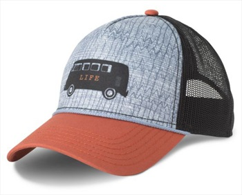 Prana Journeyman Women's Trucker Cap, OS Dry Chilli Van Life